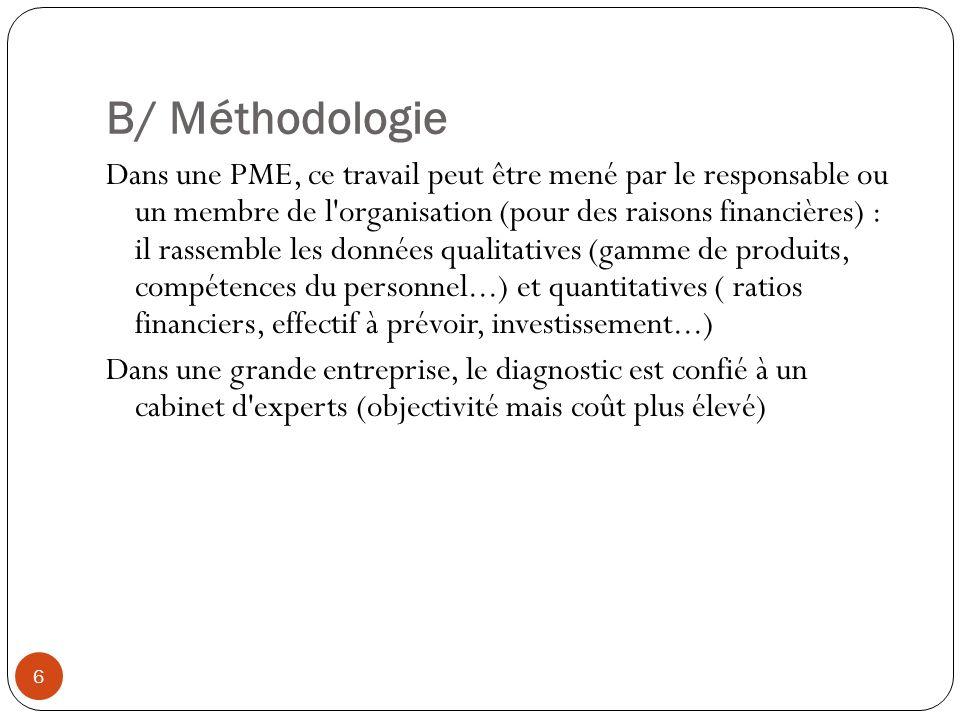 B/ Méthodologie