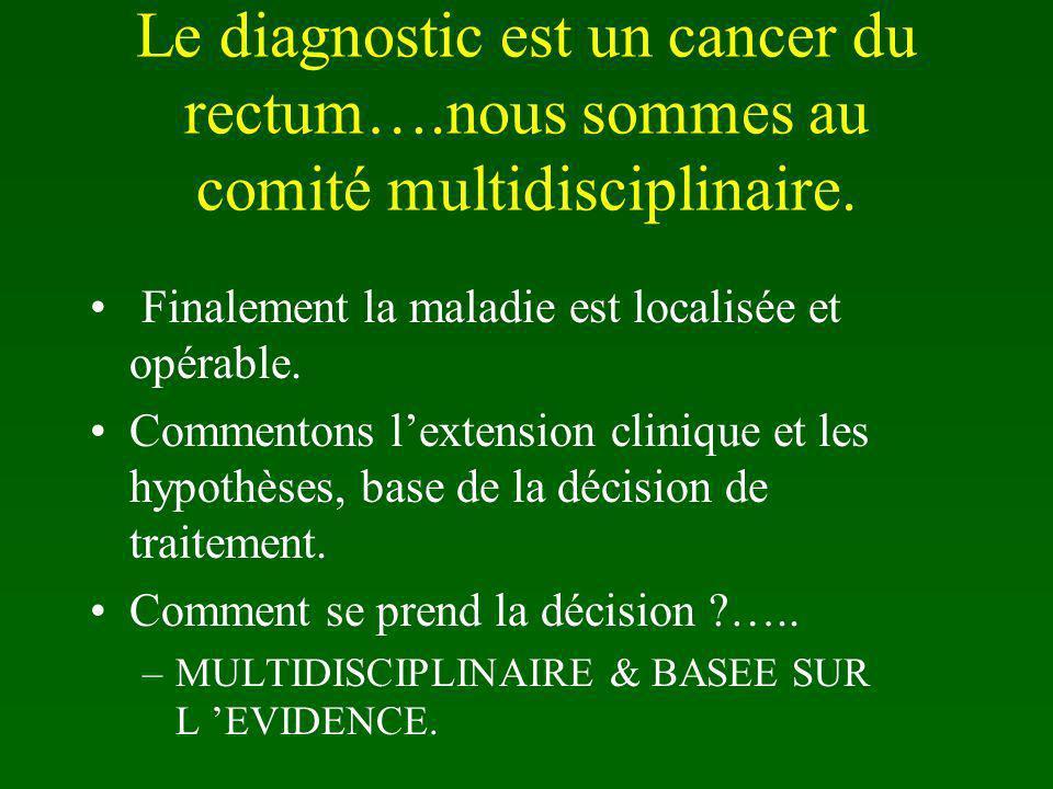 Le diagnostic est un cancer du rectum…