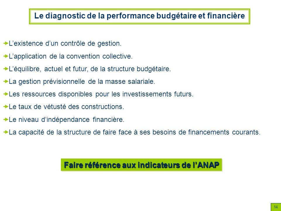 Le diagnostic de la performance budgétaire et financière