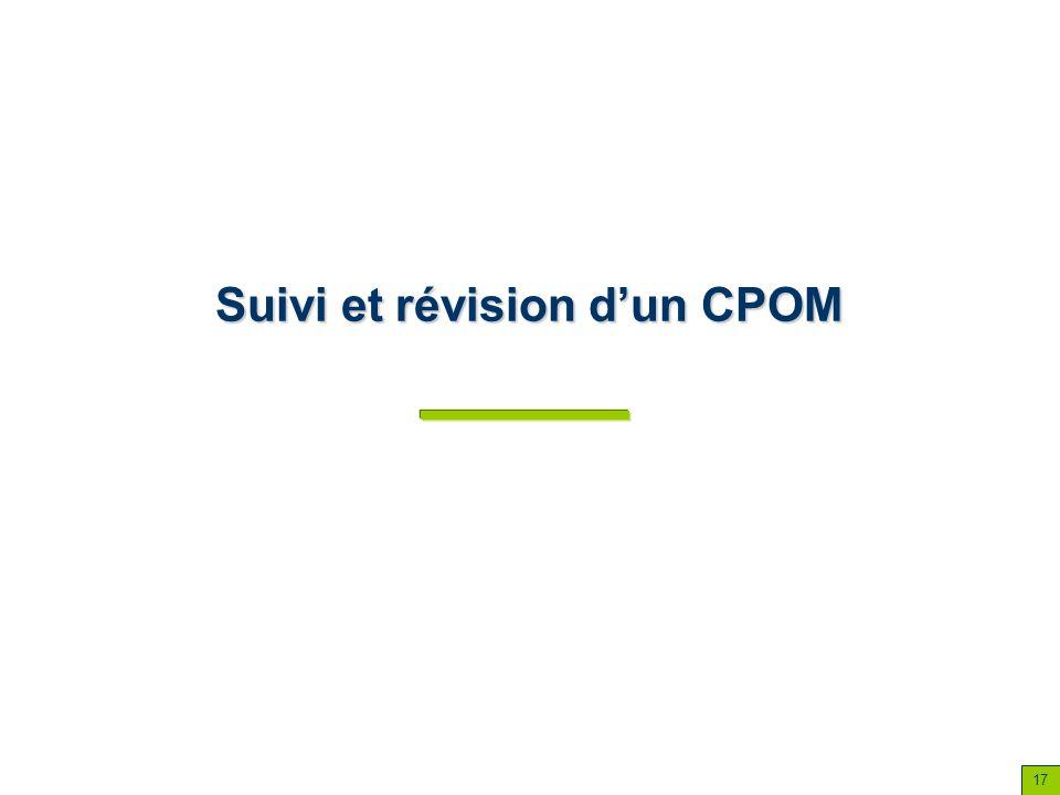 Suivi et révision d'un CPOM