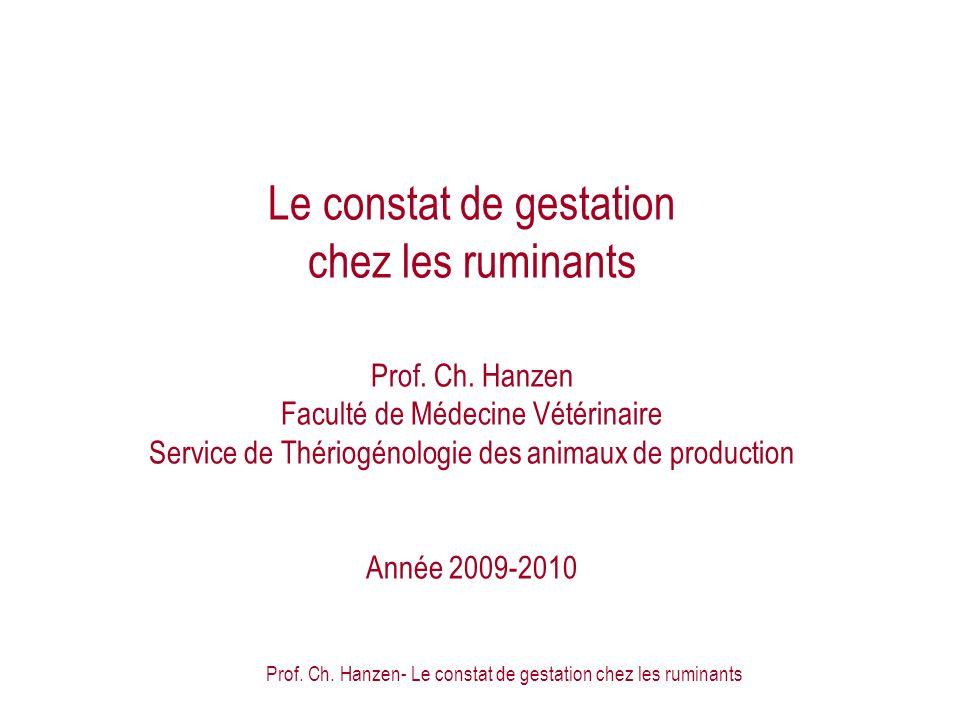 Prof. Ch. Hanzen- Le constat de gestation chez les ruminants