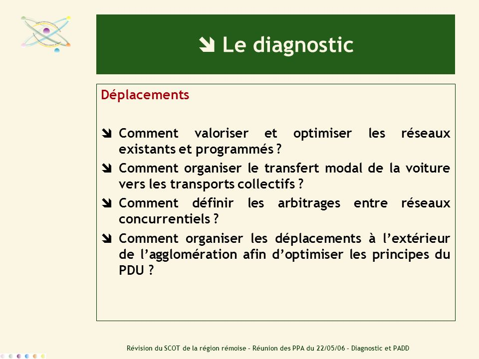  Le diagnostic Déplacements
