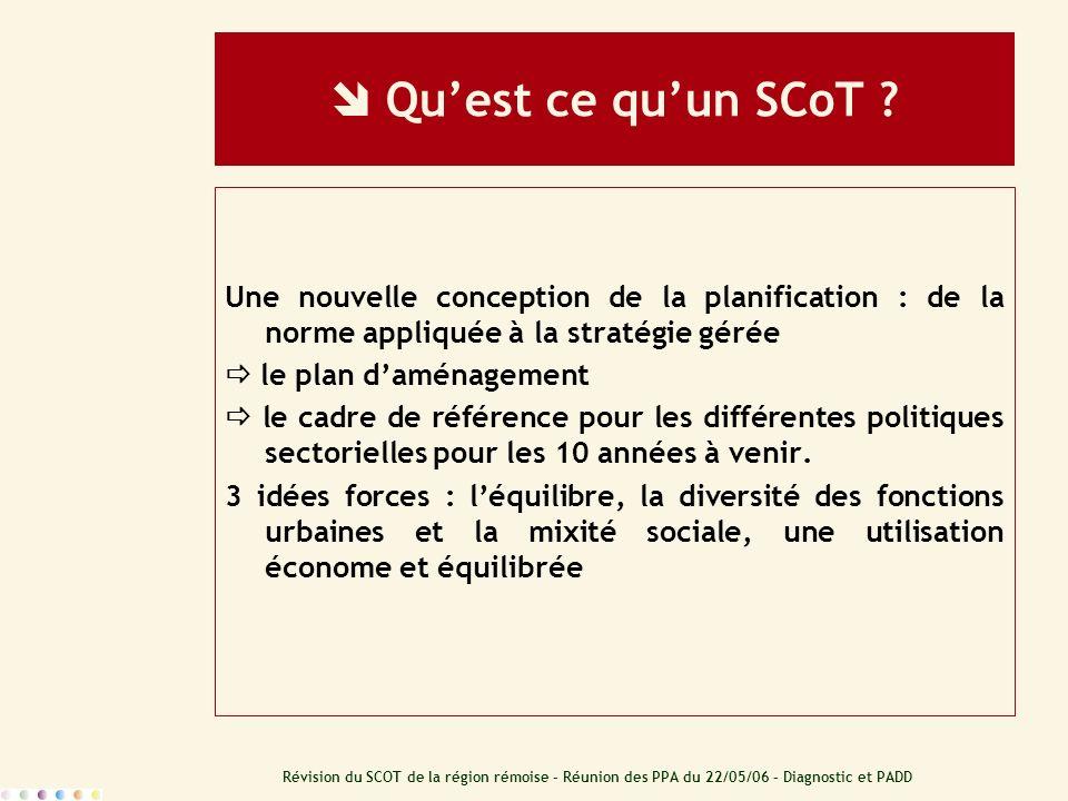  Qu'est ce qu'un SCoT Une nouvelle conception de la planification : de la norme appliquée à la stratégie gérée.