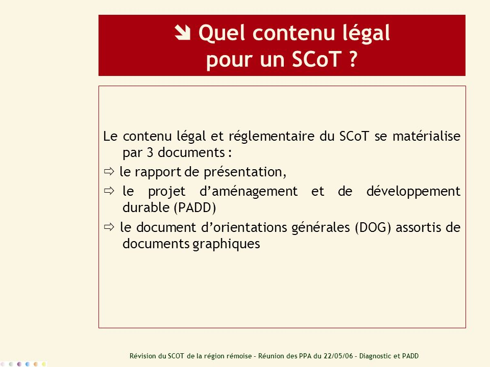  Quel contenu légal pour un SCoT