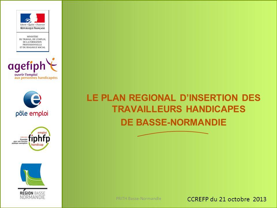 LE PLAN REGIONAL D'INSERTION DES TRAVAILLEURS HANDICAPES