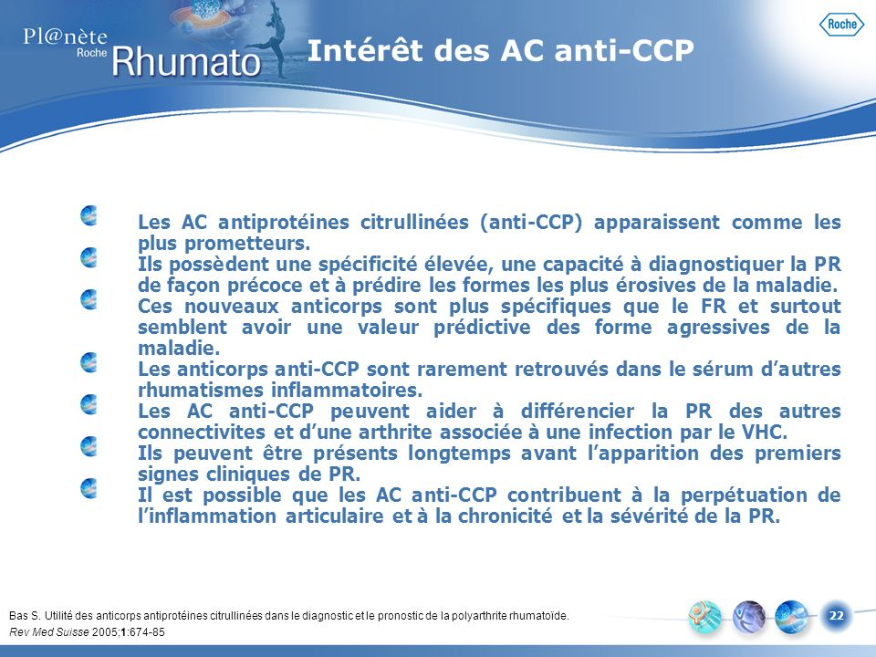 Intérêt des AC anti-CCP