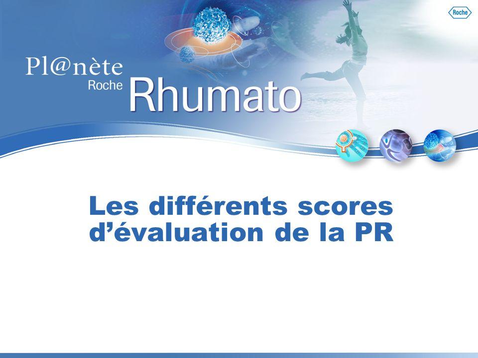 Les différents scores d'évaluation de la PR