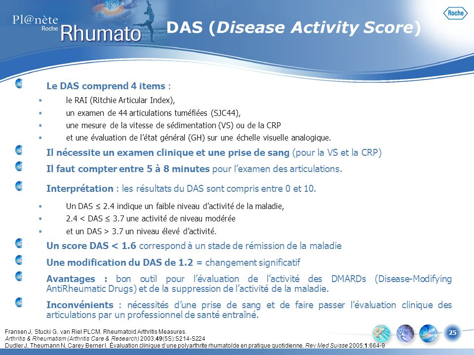 DAS (Disease Activity Score)