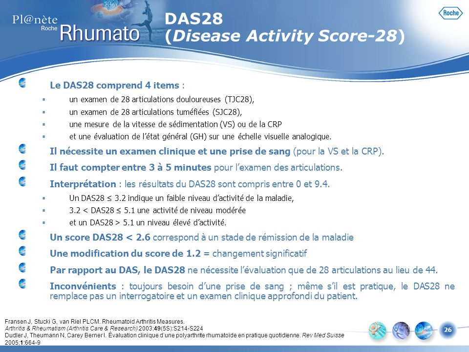 DAS28 (Disease Activity Score-28)