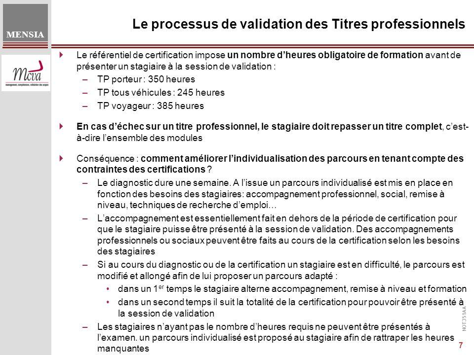 Le processus de validation des Titres professionnels