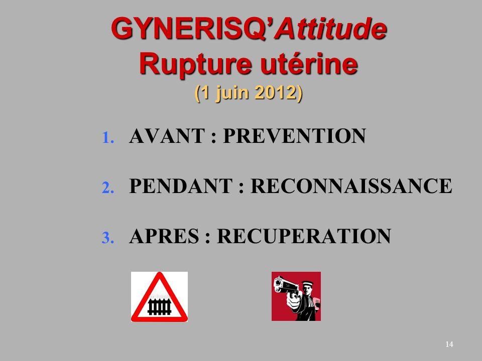GYNERISQ'Attitude Rupture utérine (1 juin 2012)
