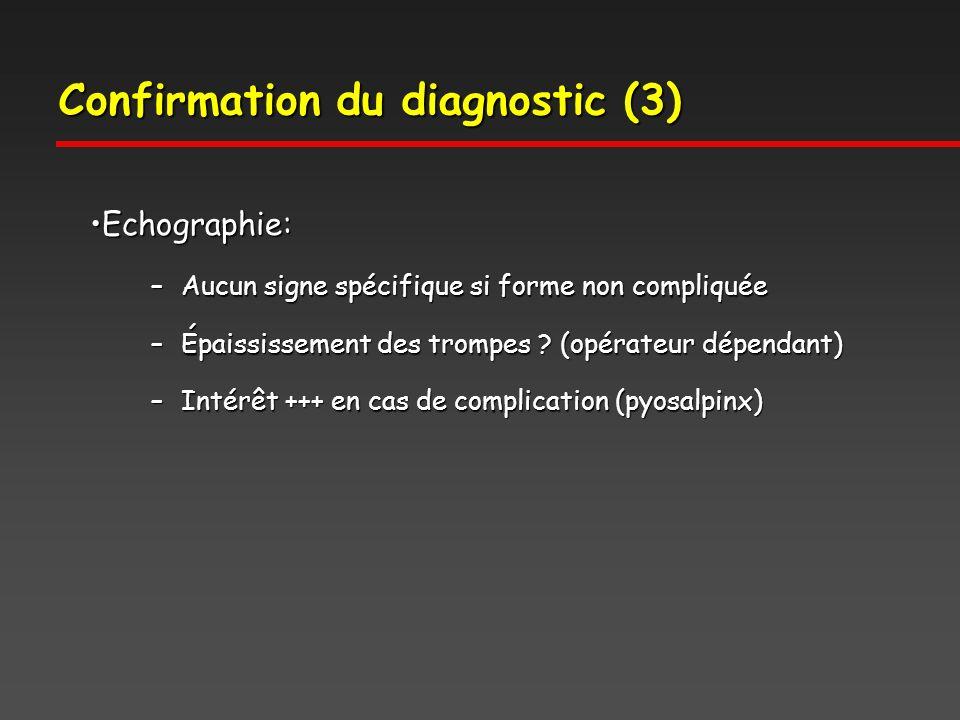 Confirmation du diagnostic (3)