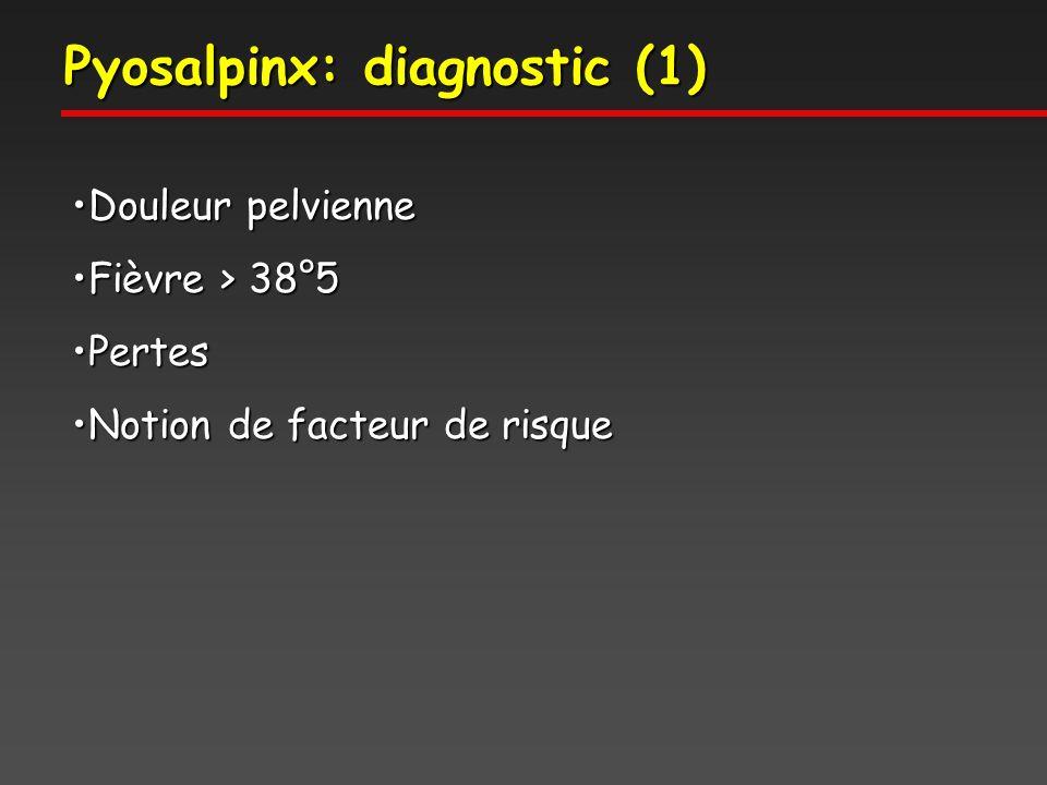 Pyosalpinx: diagnostic (1)