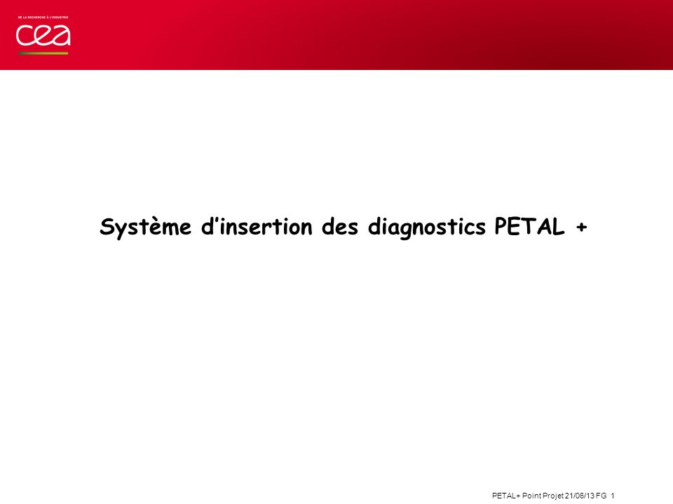 Système d'insertion des diagnostics PETAL +