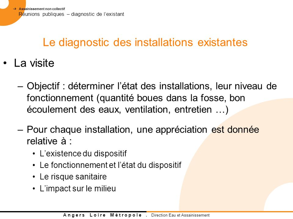 Le diagnostic des installations existantes
