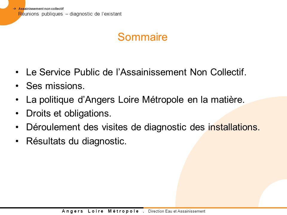 Sommaire Le Service Public de l'Assainissement Non Collectif.