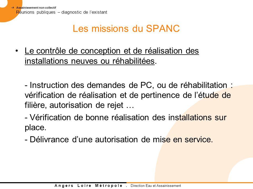 Les missions du SPANC Le contrôle de conception et de réalisation des installations neuves ou réhabilitées.