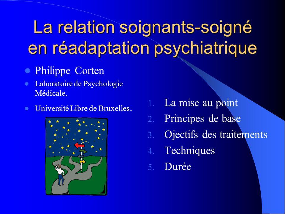 La relation soignants-soigné en réadaptation psychiatrique