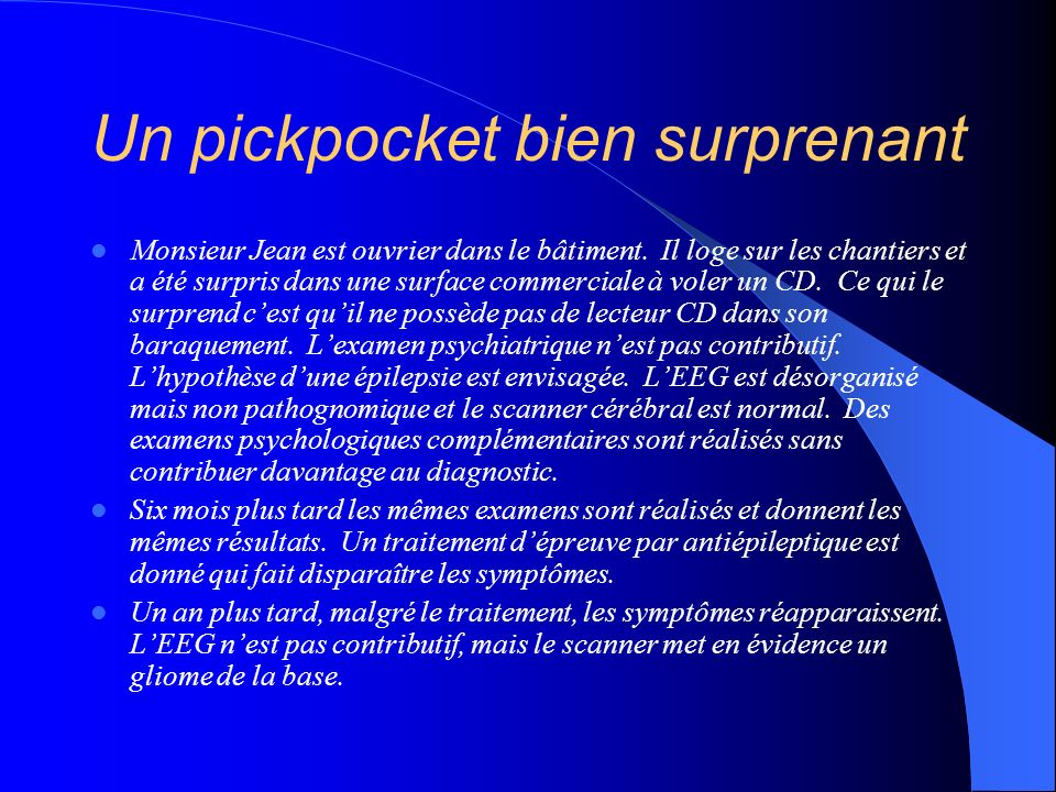 Un pickpocket bien surprenant
