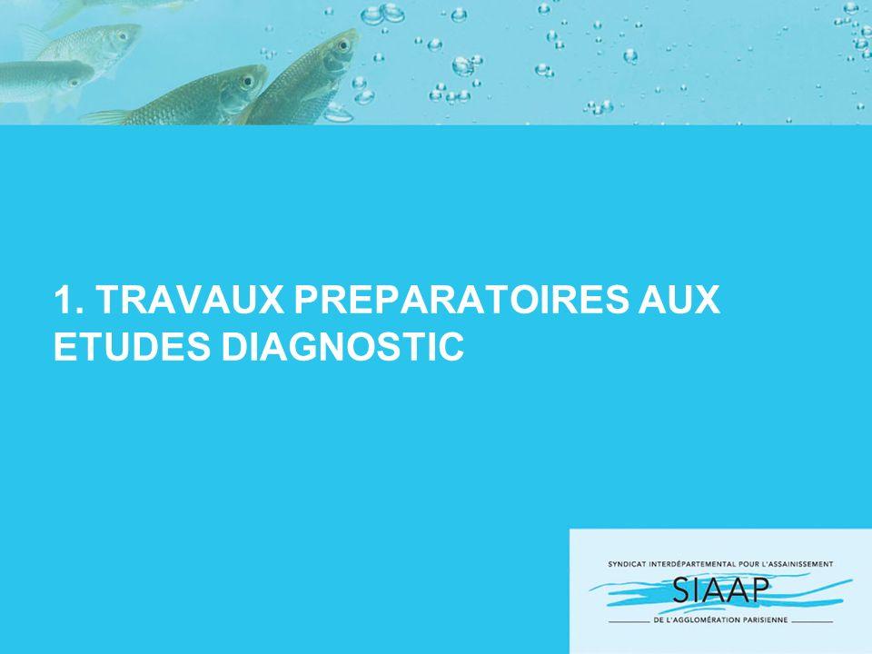 1. TRAVAUX PREPARATOIRES AUX ETUDES DIAGNOSTIC