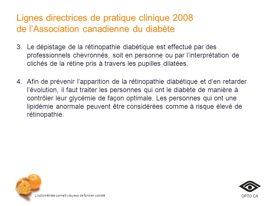 Lignes directrices de pratique clinique 2008 de l'Association canadienne du diabète