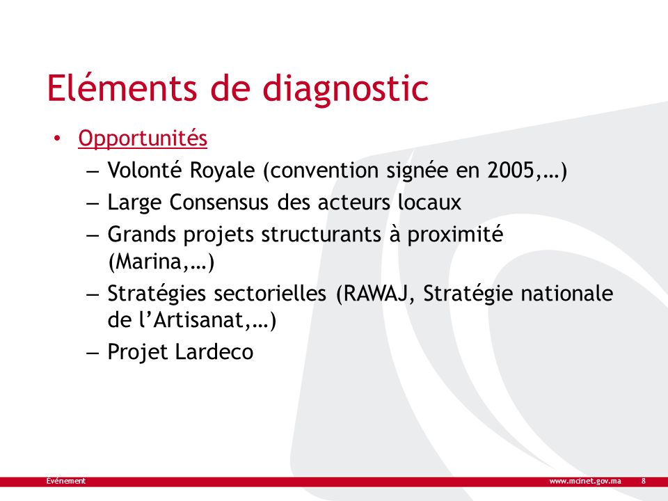 Eléments de diagnostic