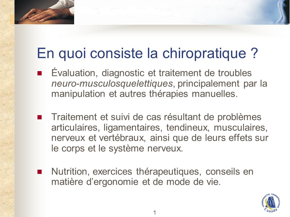 Formation en chiropratique (CDN)