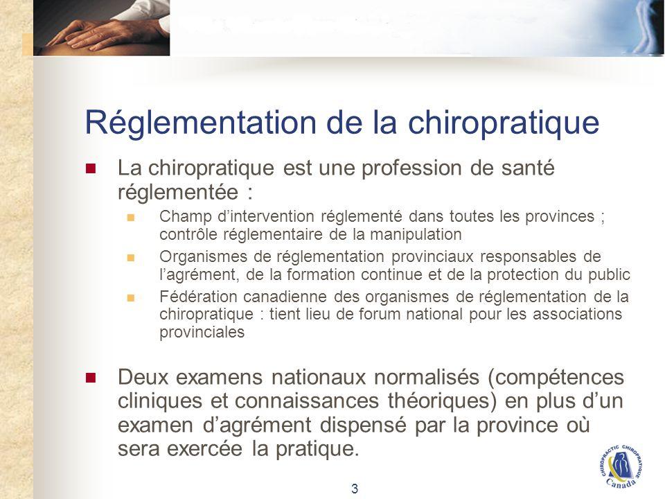Données sur la chiropratique