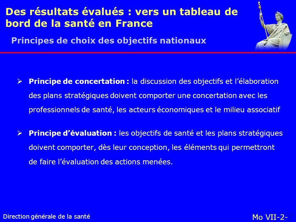 Des résultats évalués : vers un tableau de bord de la santé en France