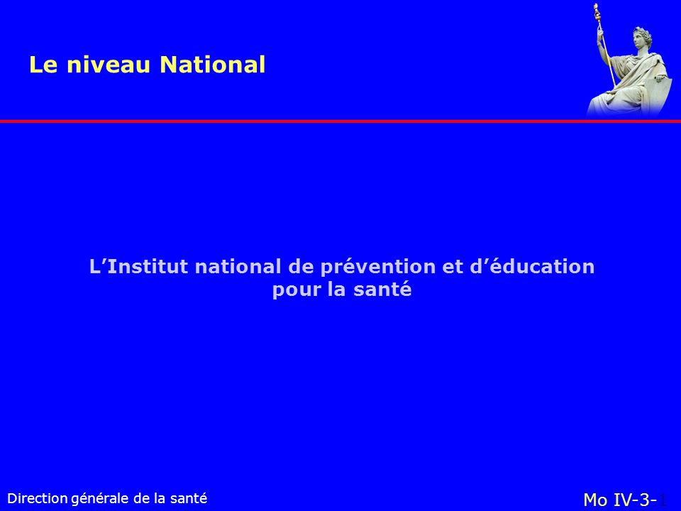 L'Institut national de prévention et d'éducation pour la santé