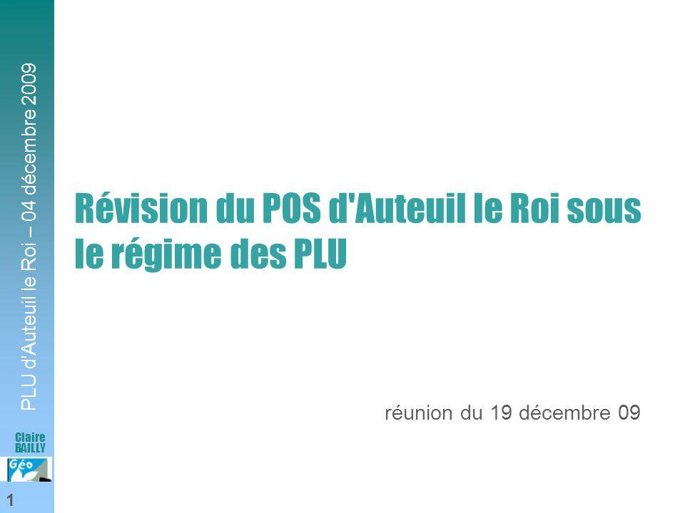 Révision du POS d Auteuil le Roi sous le régime des PLU