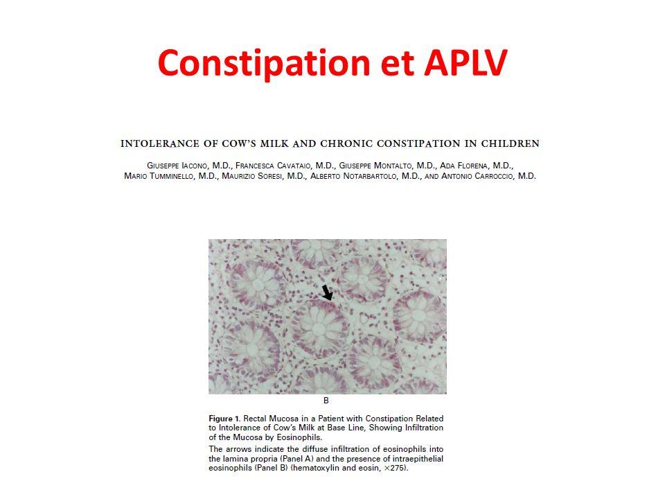 Constipation et APLV