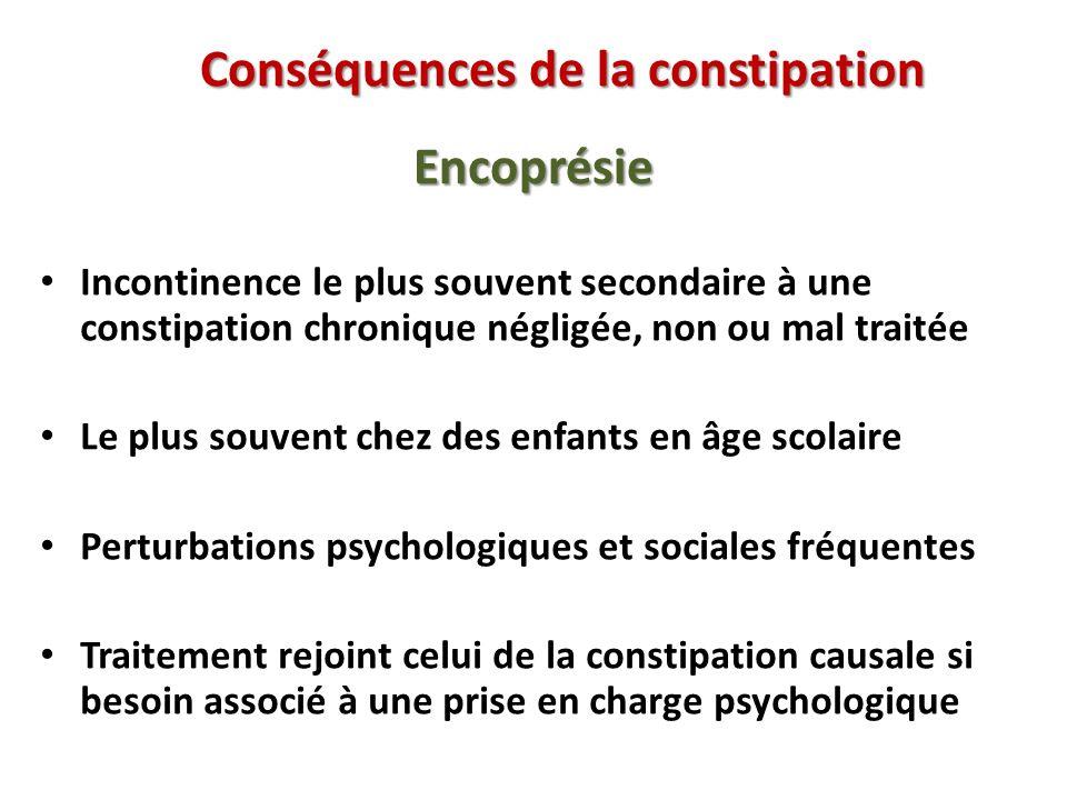 Conséquences de la constipation