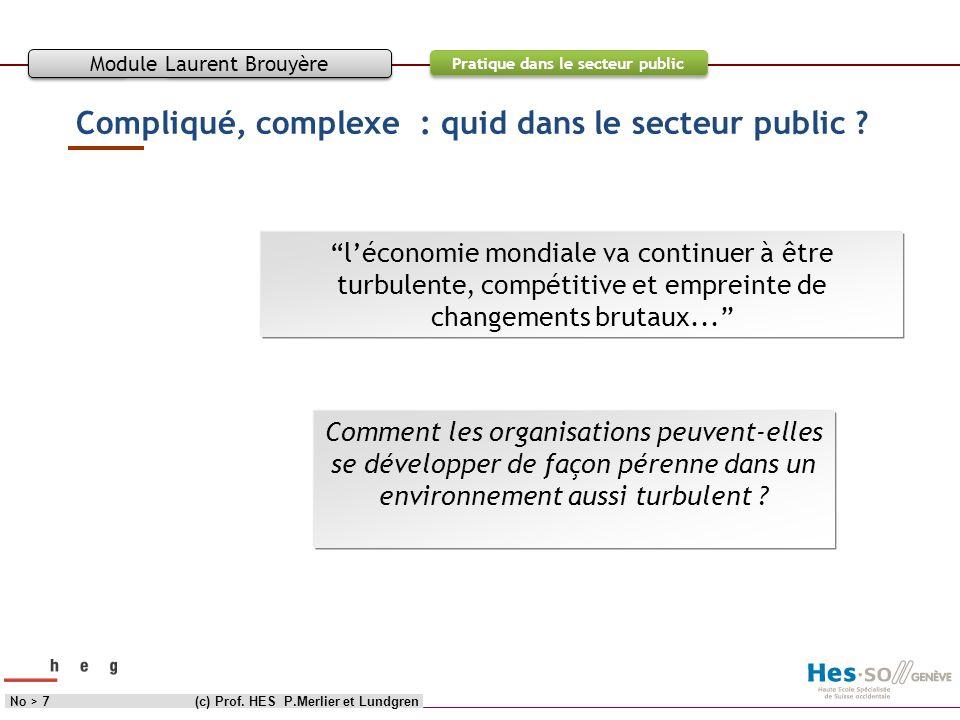Compliqué, complexe : quid dans le secteur public