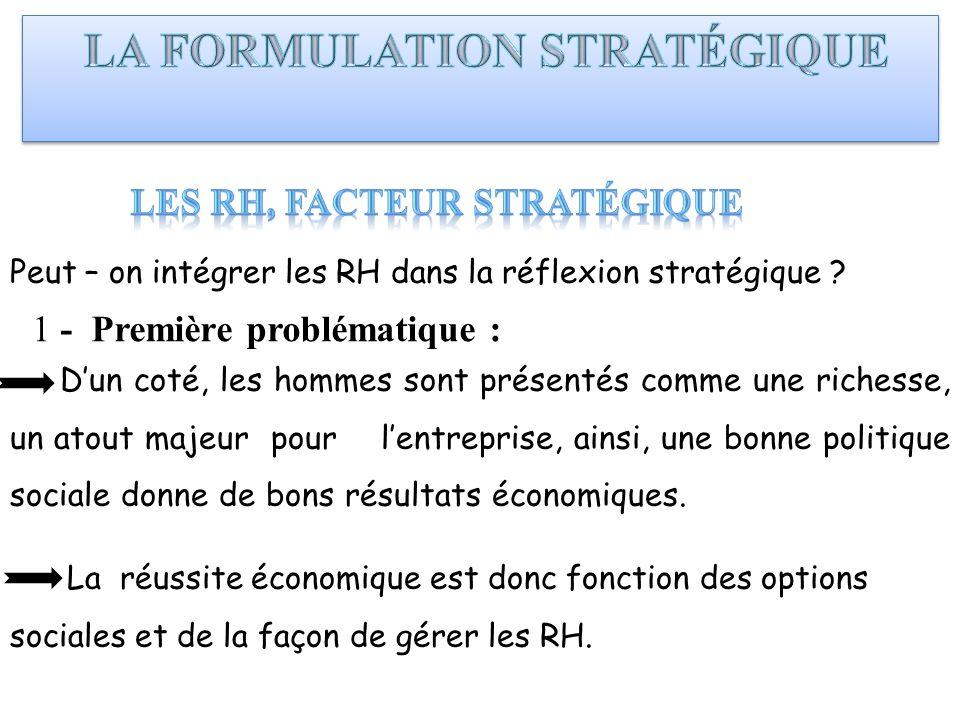LES RH, facteur stratégique