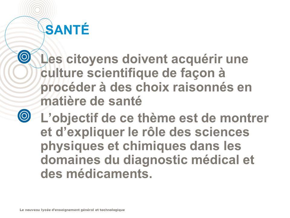 SANTÉ Les citoyens doivent acquérir une culture scientifique de façon à procéder à des choix raisonnés en matière de santé.