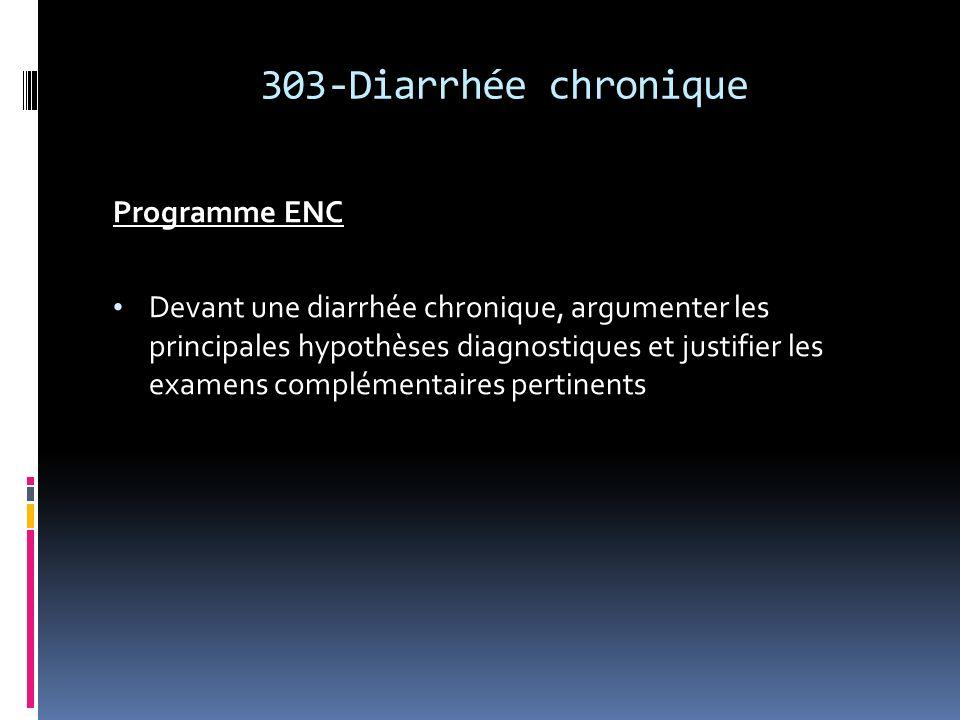 303-Diarrhée chronique Programme ENC