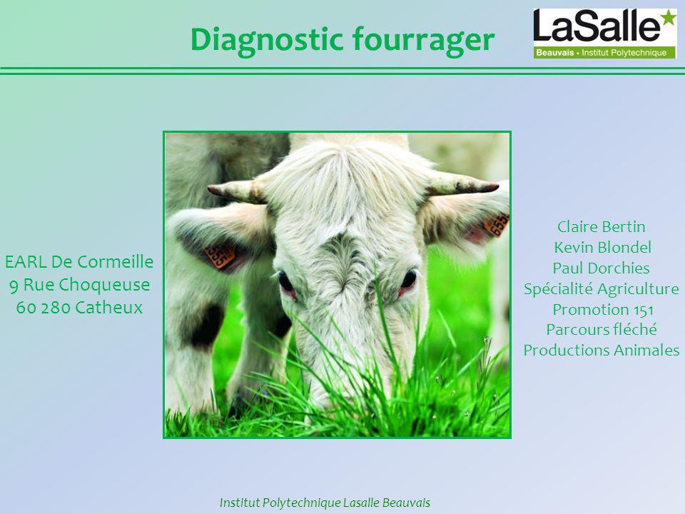 Diagnostic fourrager EARL De Cormeille 9 Rue Choqueuse 60 280 Catheux