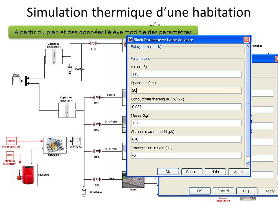 Simulation thermique d'une habitation