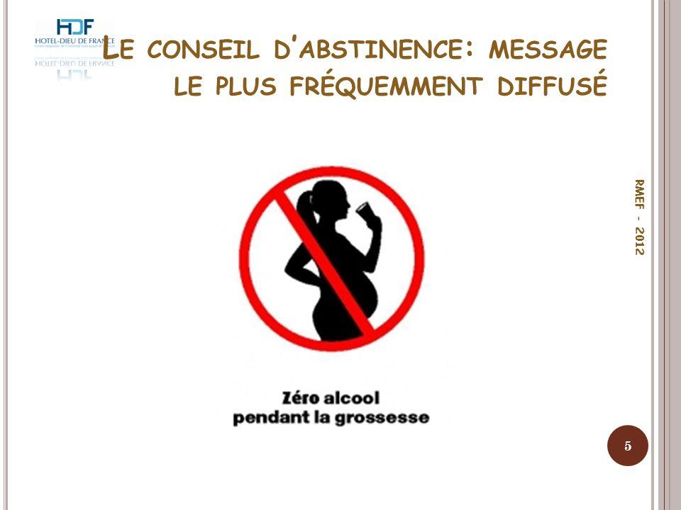 Le conseil d'abstinence: message le plus fréquemment diffusé