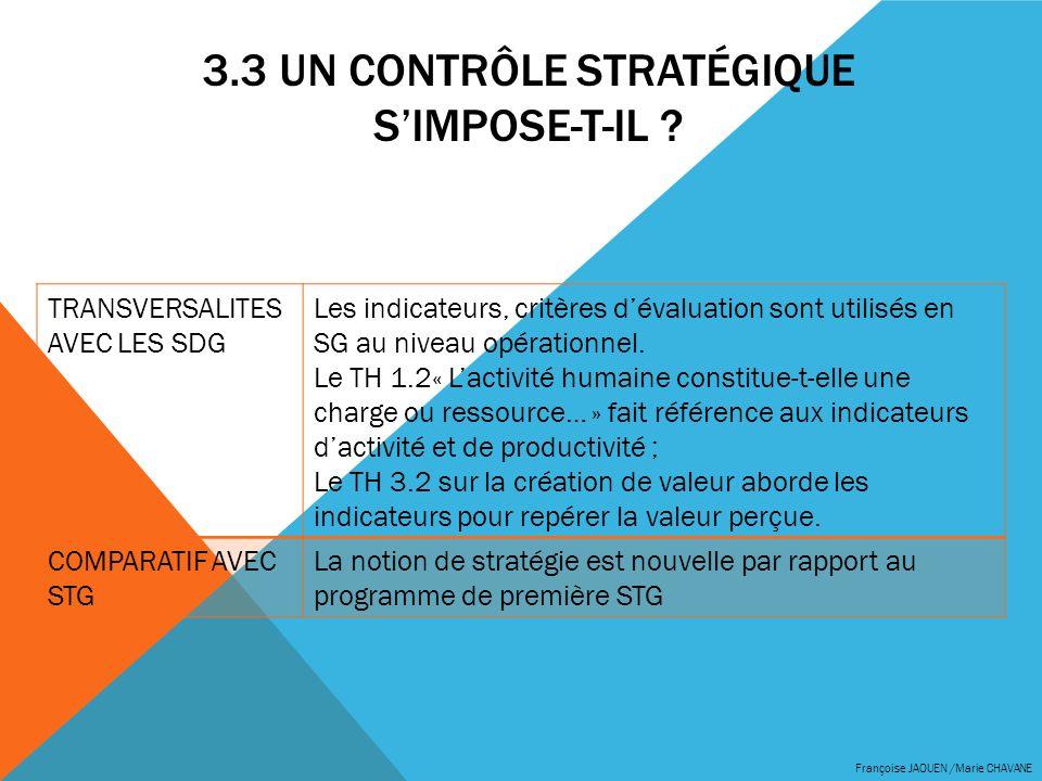 3.3 Un contrôle stratégique s'impose-t-il