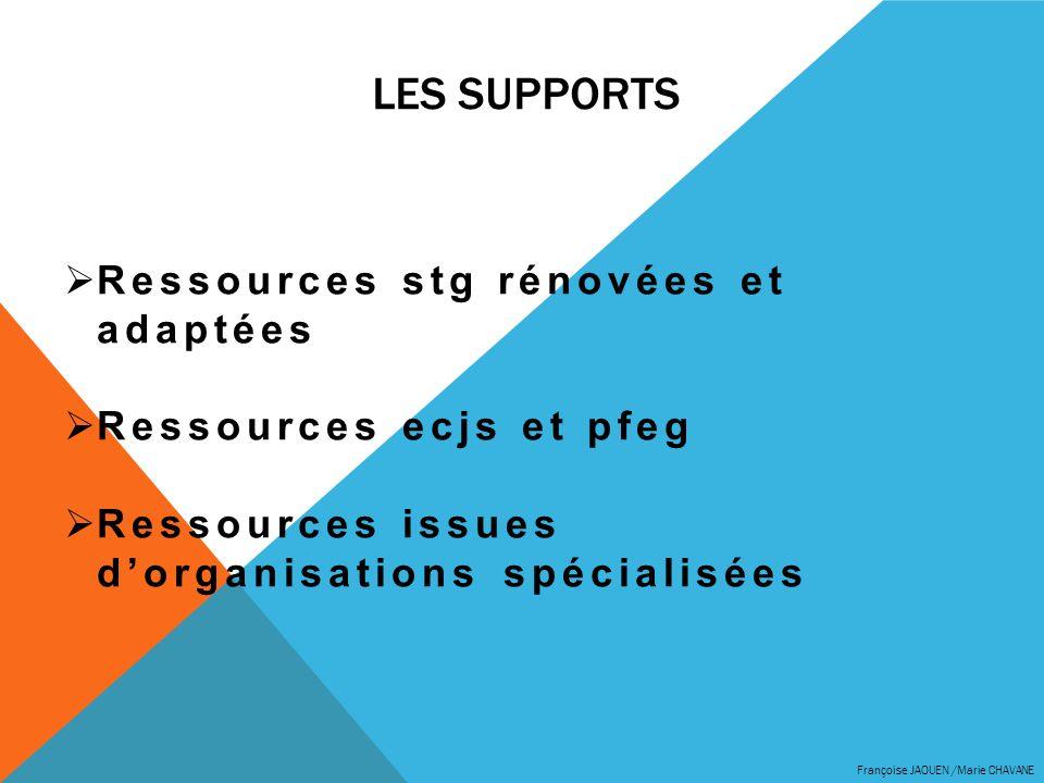 LES supports Ressources stg rénovées et adaptées