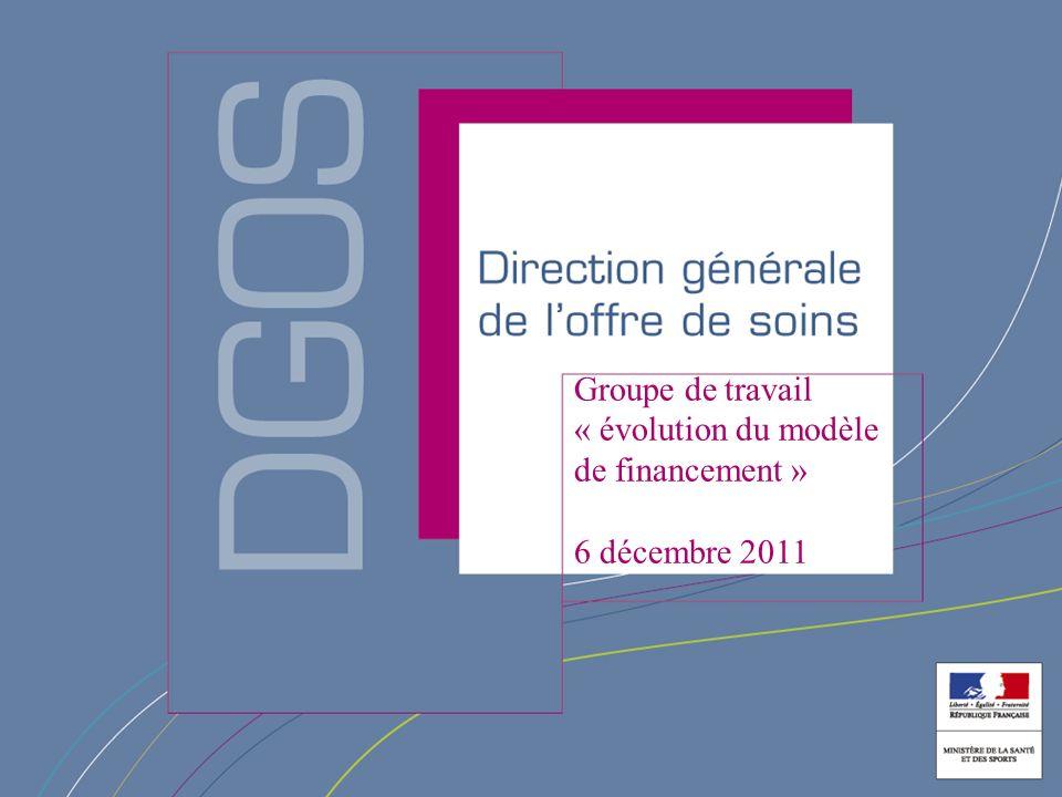 Groupe de travail « évolution du modèle de financement »