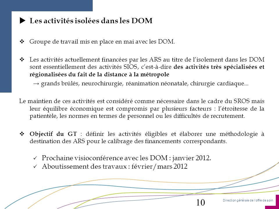 10 Les activités isolées dans les DOM