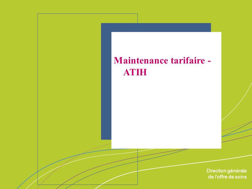 Maintenance tarifaire - ATIH