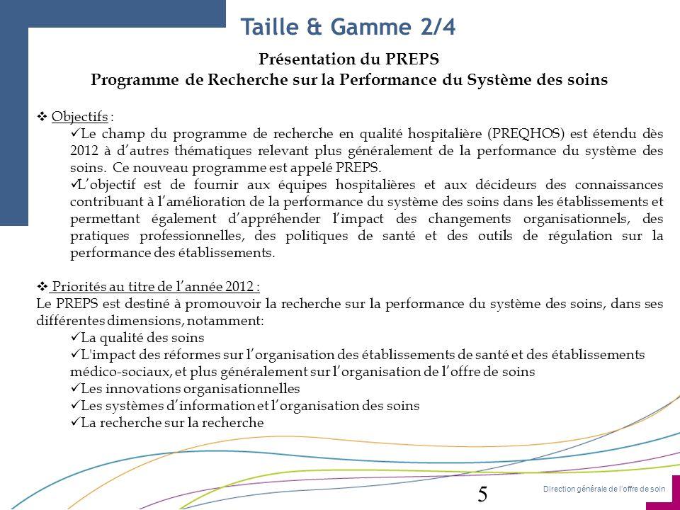 Programme de Recherche sur la Performance du Système des soins