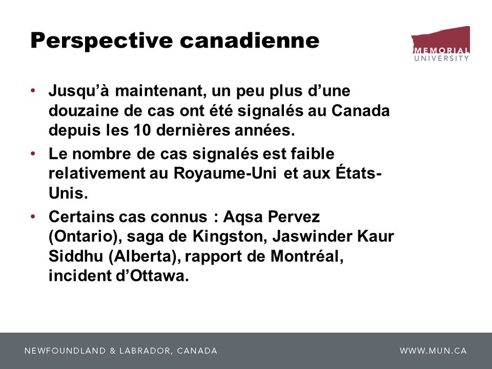 Perspective canadienne