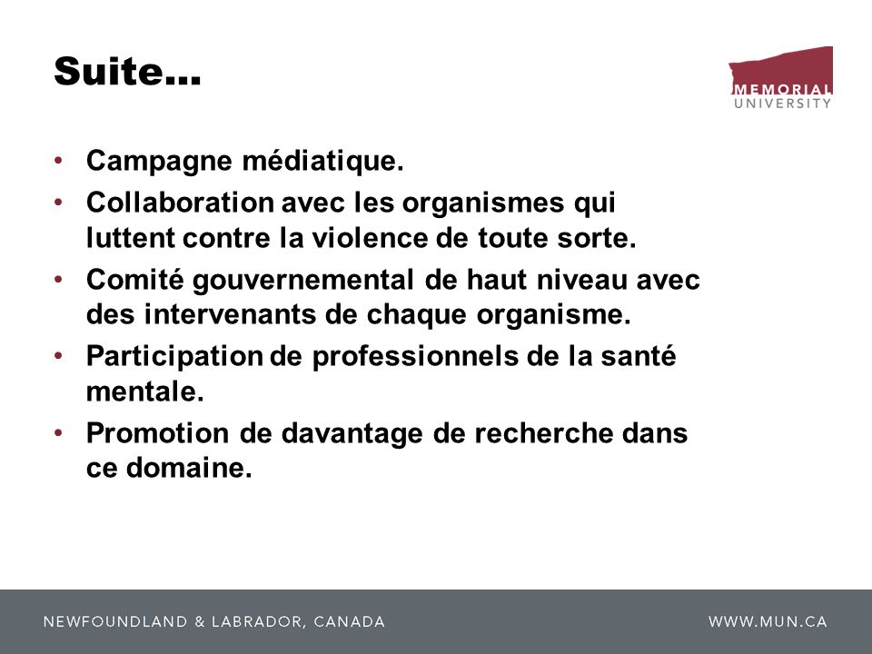 Suite... Campagne médiatique.