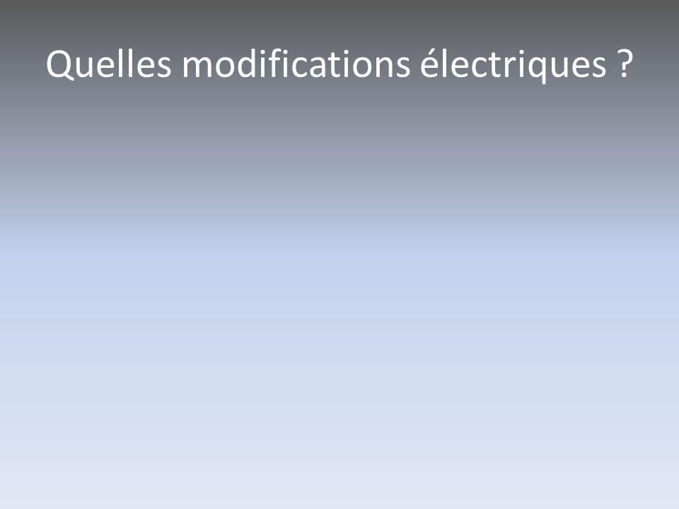 Quelles modifications électriques