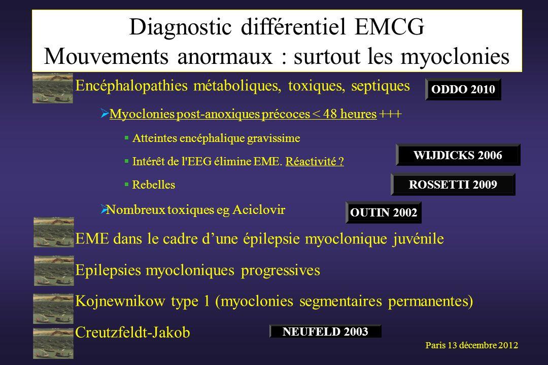 Diagnostic différentiel EMCG